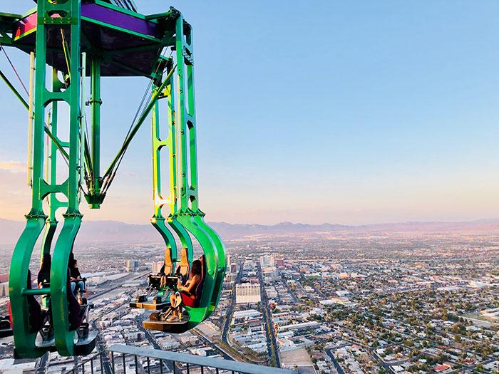 tour de manège dans le vide à Las Vegas